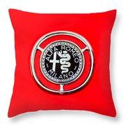 1959 Alfa-romeo Giulietta Sprint Emblem Throw Pillow by Jill Reger