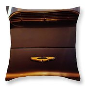1961 Aston Martin Db4 Coupe Emblem Throw Pillow by Jill Reger