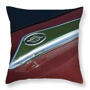 1963 Ford Galaxie Hood Ornament Throw Pillow by Jill Reger