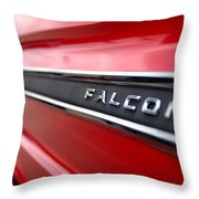 1965 Ford Falcon Name Plate Throw Pillow by Brian Harig