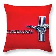 1965 Ford Mustang Emblem 4 Throw Pillow by Jill Reger