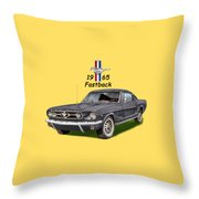 1965 Mustang Fastback Throw Pillow by Jack Pumphrey