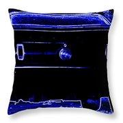 1969 Mustang in Neon 2 Throw Pillow by Susan Bordelon