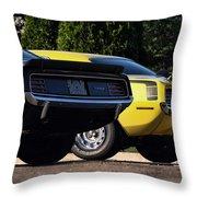 1970 Plymouth 'cuda 440 And Hemi Throw Pillow by Gordon Dean II