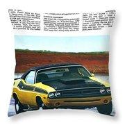 1971 Dodge Challenger T/a Throw Pillow by Digital Repro Depot