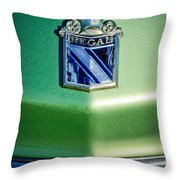 1973 Buick Regal Hood Ornament Throw Pillow by Jill Reger
