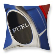 1987 Porsche Carrera Coupe Gas Cap Throw Pillow by Jill Reger