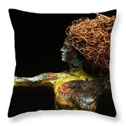 Alight A Sculpture By Adam Long Throw Pillow by Adam Long