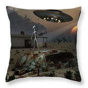 Artists Concept Of A Science Fiction Throw Pillow by Mark Stevenson