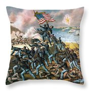 Battle Of Fort Wagner, 1863 Throw Pillow by Granger