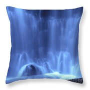 Blue Waterfall Throw Pillow by Bernard Jaubert