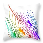 Circuit Board Technology Throw Pillow by Setsiri Silapasuwanchai