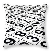 Endless Numbers Throw Pillow by Amy Cicconi