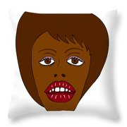 Fashion Illustration Throw Pillow by Frank Tschakert