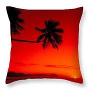 Fiji, Kadavu Island Throw Pillow by Ron Dahlquist - Printscapes