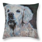 Golden Retriever Portrait Throw Pillow by Lee Ann Shepard