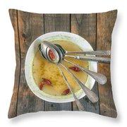 hot soup Throw Pillow by Joana Kruse