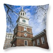 Independence Hall Throw Pillow by John Greim