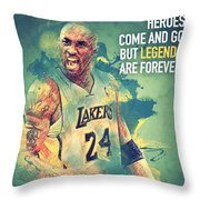 Kobe Bryant Throw Pillow by Taylan Soyturk