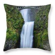 Multnomah Falls Waterfall Oregon Columbia River Gorge Throw Pillow by Dustin K Ryan