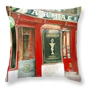 Old Pharmacy Throw Pillow by Tomas Castano