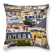 Paris Rooftops Throw Pillow by Elena Elisseeva