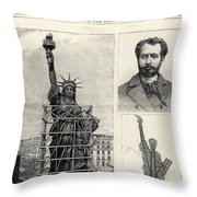 Statue Of Liberty, 1885 Throw Pillow by Granger