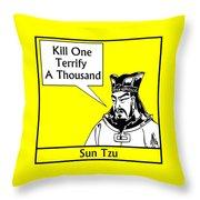 Sun Tzu Throw Pillow by War Is Hell Store