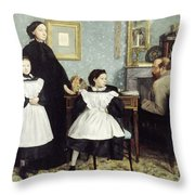The Bellelli Family Throw Pillow by MotionAge Designs