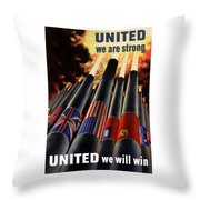 The United Nations Fight For Freedom Throw Pillow by War Is Hell Store
