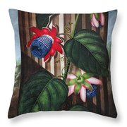 Thornton: Passion-flower Throw Pillow by Granger