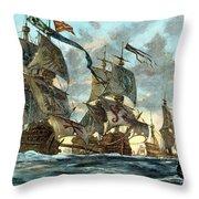 Spanish Armada (1588) Throw Pillow by Granger