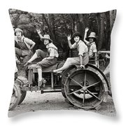 Silent Film: Automobiles Throw Pillow by Granger