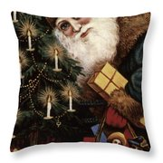 American Christmas Card Throw Pillow by Granger