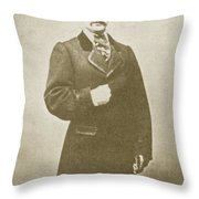 John Wilkes Booth, American Assassin Throw Pillow by Photo Researchers
