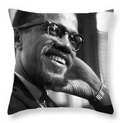 Malcolm X (1925-1965) Throw Pillow by Granger