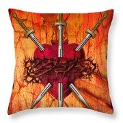 3 Of Swords Throw Pillow by Tammy Wetzel