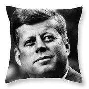 President Kennedy Throw Pillow by War Is Hell Store