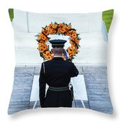 Tomb Of The Unknown Soldier Throw Pillow by John Greim