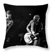 U2 Throw Pillow by Jenny Potter