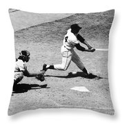 Willie Mays (1931- ) Throw Pillow by Granger