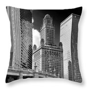 35 East Wacker Chicago - Jewelers Building Throw Pillow by Christine Till