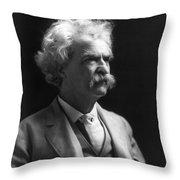 SAMUEL LANGHORNE CLEMENS Throw Pillow by Granger