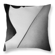 Human Form Abstract Body Part  Throw Pillow by Anonymous