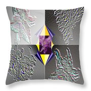 4 Points Of Interest Throw Pillow by Brenda L Spencer