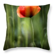 Poppy Throw Pillow by Silke Magino