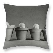 4 Pots Throw Pillow by Anne Geddes