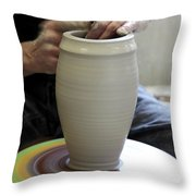 Pottery Wheel, Sequence Throw Pillow by Ted Kinsman