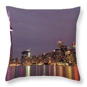 The City Of Toronto Throw Pillow by Oleksiy Maksymenko
