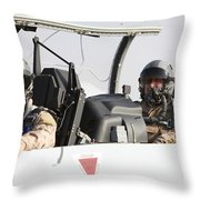 Camp Speicher, Iraq - U.s. Air Force Throw Pillow by Terry Moore